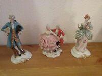 Three Capodimonte figurines