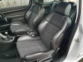 Peugeot 307 3 door half leather interior seats