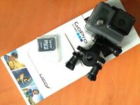 GoPro Hero with various mounts