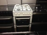 Zanussi 50cm gas cooker with glass lid