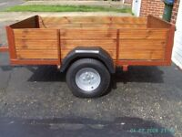 """6x4 Trailer - with lights - 750kg max weight on 10"""" wheels"""
