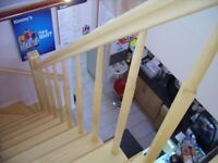 Stair parts, custom handmade stairways, open wooden staircase, bespoke staircase, Edinburgh area