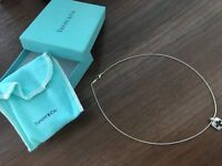 Tiffany & Co. Sterling Silver Cross Stencil Pendant & Necklace