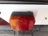 Trailer number plate & light bar- used but good working order
