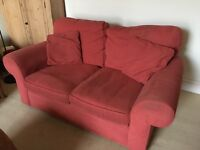 2 seater terracotta sofa