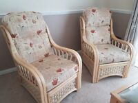 Two bamboo chairs, nearly new.