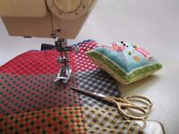 Introduction to the Sewing Machine. To make a Linned Tote bag and to how to sew zips. At Forty Hall.