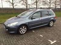 PEUGEOT 307 SW 2007 DIESEL LONG MOT PAN ROOF DRIVES LOVELY