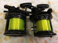 3 SHIMANO speedmaster multiplier fishing reels 2 are mags