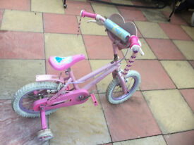 KIDS Childrens Girls Bicycle 3-8 year olds in pink Mountain Bike with stabilisers