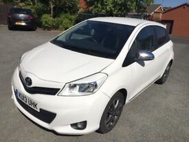 2013 plate Toyota Yaris Trend 1.33 VVT-I white top of the range low mileage,