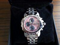 Krug Baümen Mens Sportsmaster WITH 8 Diamond Pink Dial 241269DM-PK, AS NEW, £75