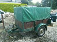 Small wood and steel framed trailer