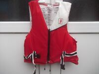 4 Life jackets for sale - varying sizes and styles - will sell individually-see prices