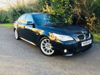 BMW 520D MSPORT 2008 FACELIFT SHAPE FULL BLACK LEATHER 1 YEARS MOT MINT CONDITION