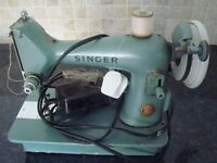 Vintage singer sewing machine electric with case. 1950's ?