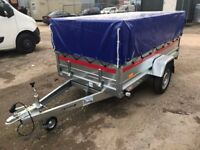 BRAND NEW Tema tiper Trailer 236cm x 125cm x 46cm + mesh side 40cm and cover !