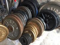 Iron Weights £1/1kg Barbell gym Equipment
