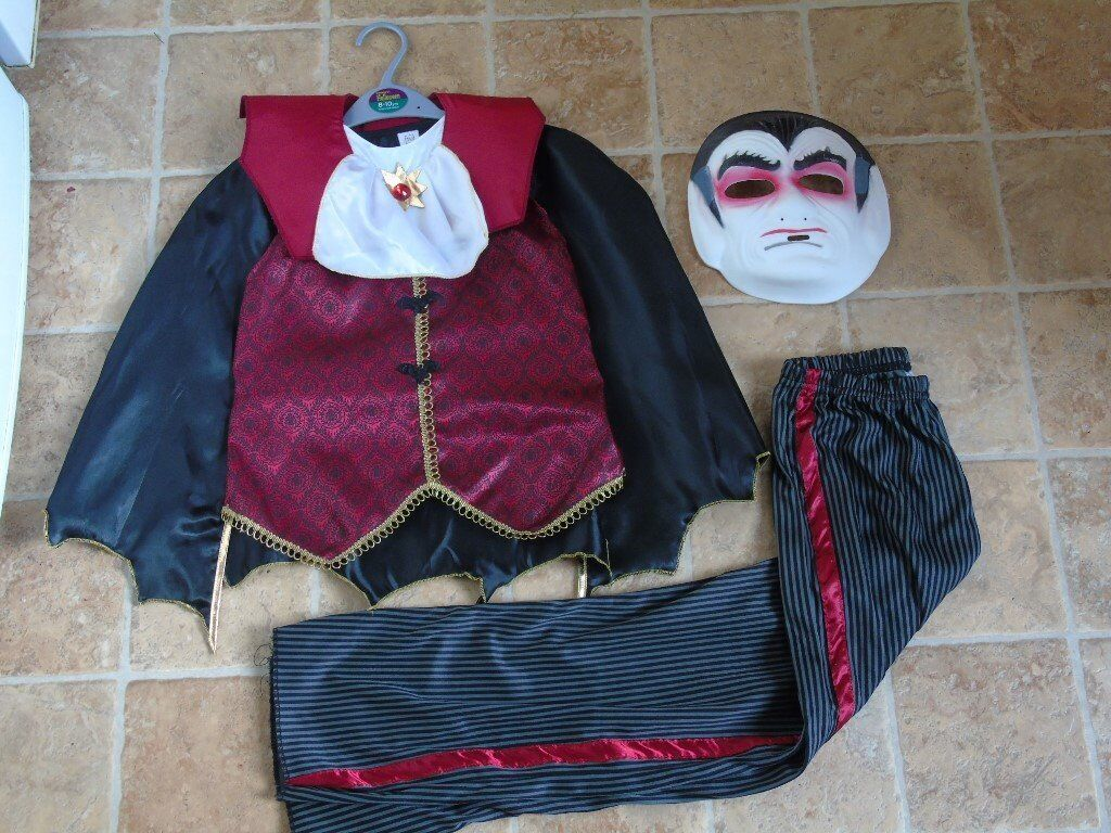 Halloween Count Dracula outfit age 8-10 years