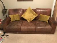 Large leather sofa for sale!