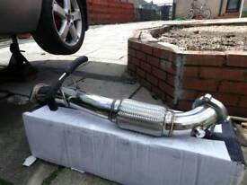 Exhaust de-cat pipe