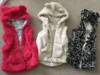 Girls Next body warmers gillets size 12-18 months and 18-24 months 1 1/2- 2 years