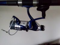 2 telescopic fishing rods with reels and some tackle
