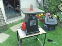 Triton 450 Bench mounted Bobbin sander, extra bobbins etc, with bench