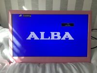 Pink Alba 24 inch TV with built in DVD player