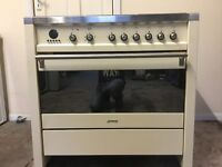 Smeg dual fuel gas cooker A1-2 cream 90cm FSD 3 months warranty free local delivery!!!!!!!!!!!!!
