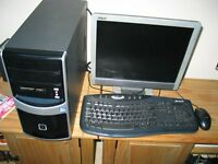Asus A8N Desktop Computer with monitor, keyboard, mouse & HP 1510 All In One Printer