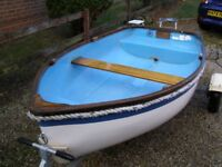8 foot Tepco dinghy and road trailer