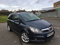 2006 VAUXHALL ZAFIRA DESIGN 1.9 CDTI 150, 7 SEATER, FULLY LOADED, LONG MOT, 1 P. OWNER, F/S/H