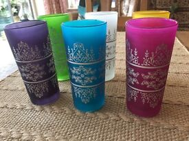 6 Coloured Authentic Morrocan glasses