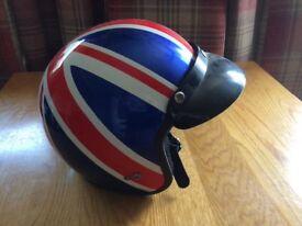 Small Union Jack motor cycle helmet