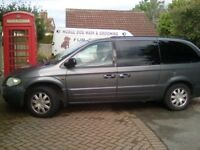 Chrysler grand voyager with gas conversion and 7 seats.