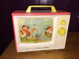 Vintage Fisher Price TV toy