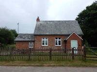 The Old School, recently refurbished throughout, 3 miles from Exeter, garden, garage, quiet hamlet.