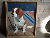 Oil Painting of Cavalier King Charles Spaniel