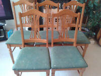Five dining chairs