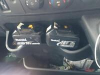 2 makita 18v batteries