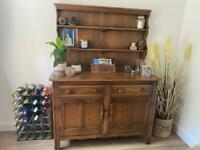Vintage Wooden Golden Dawn Brown Ercol Welsh Dresser Kitchen Dining Room In Excellent Condition