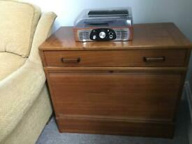 Mid century roll-top cabinet