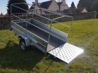 New Trailer 7.7 x 4.1 with ramp cover free £990 inc vat