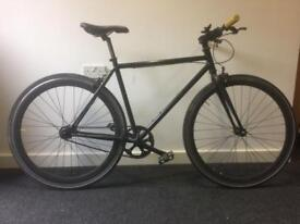 Single speed matte black bicycle NOT FIXIE