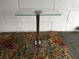 Glass coffee/side table