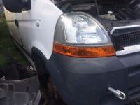 Renault Master 06 Driver Side Headlight Breaking