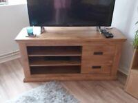 Oak television unit