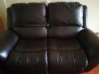 Lazyboy brown 2 seater recliner
