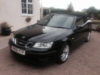 saab linear convertable in very nice condition with Full service history leather trim & rear sensors